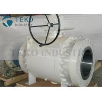 Quality Worm Gear Operated Flanged Ball Valve  /  Trunnion Mounted Three Piece Ball Valve 150~2500Lb wholesale