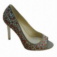 Quality Women's High-heeled Dress Shoes with Special Upper Material, Various Colors are Available wholesale