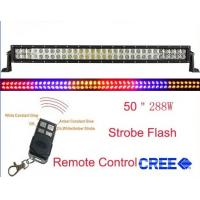 China 50inch 288w RGB offroad light bar-Remote control, spot flood combo,improve visibility on sale