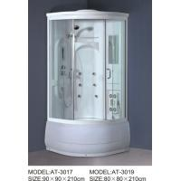 Quality ABS shower stall 800mm Quadrant Shower Enclosures with tray and waste 230V Voltage wholesale