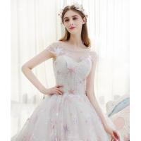 China 2018 summer new style mesh based Star  embroidery lace fabric /children'dress fabric on sale