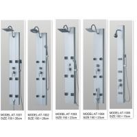 Quality 130 X 20 / cm Massage Jets Shower Columns Panels tempered glass  for bathroom wholesale