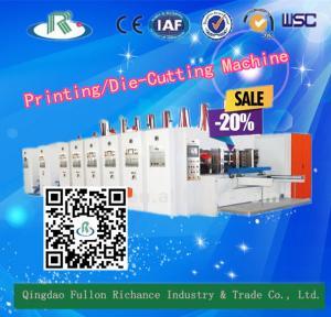 China 7 Series High Speed Corrugated Printing Die Cutting Machine (Optional Slotting) on sale
