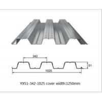 Quality Galvanized Metal Floor Decking Sheets 38 - 113 Mm Wave Height 60 - 275g/M2 Zinc Weight wholesale