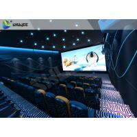Quality Special Effect  4D Cinema Equipment 120 People Electric System Motion Chairs Black Color wholesale