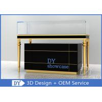 Quality Luxury Black Glass Jewellery Display Cabinet With Logo Customized wholesale