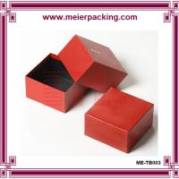 China Favor red paper gift box, paper box made by 2mm grey board + 157g double coated paper on sale