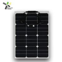 Quality Mono Cell SunPower Flexible Solar Panels 50W High Efficiency For Off - Grid Systems wholesale