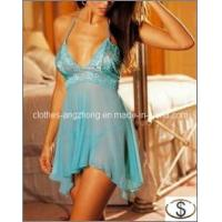 China Deep V Sexy Lingerie Dress Sexy Underwear Women Lace Babydoll on sale