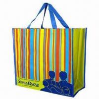 Quality PP Woven Shopping Bag, Customized Designs are Welcome wholesale