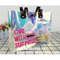China Promotional Shiny PVC Tote Bag, Women Gender and Casual Tote Shape large capacity clear PVC Beach Bag, Bagease, Bagplast on sale