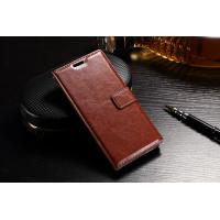 Quality Slim Fit Sony Xz Leather Case Wallet Crazy Horse PU For Drop Protection wholesale