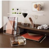 Quality Transparent desk top Acrylic Storage Boxes Light weight for office wholesale