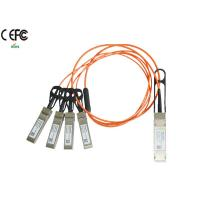 Quality 1 Meter 40G Breakout AOC Cable QSFP to SFP+ Fiber Cable OM1 OM2 wholesale