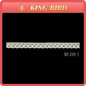 Quality 100% Cotton Guipure White Lace Ribbon Trim 1.2cm For Decoration wholesale