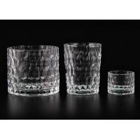 Quality Dimpled Cylindrical Clear set of 3 glass candle holders for Candle Making wholesale