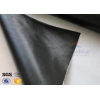 Cheap 1 Side Black Silicone Coated Fiberglass Fabric Fireproof Cooler Insulation Material for sale