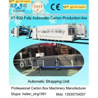 Quality XT-920  Automatic Corrugated box Making Line with Folder Gluer and Strapper wholesale