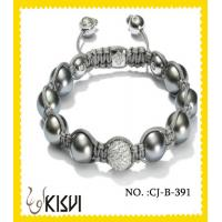 Quality OEM / ODM Alloy + Crystal 10mm Adjustable Shamballa Crystal Beads Bracelet wholesale
