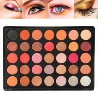 35 Colors Mineral Glitter Eyeshadow Palette For Brown Eyes Daily Use