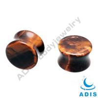 Quality Tiger Eye Stone Ear Plugs  wholesale