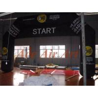 custom 26 feet black inflatable racing arch with removable banner for sport runners