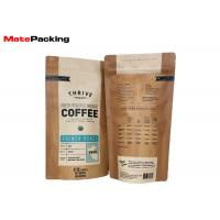 Quality Brown Kraft Paper Kraft Paper Stand Up Pouch , Stand Up Coffee Pouches With Window wholesale