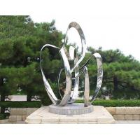 Quality Custom Contemporary Garden Ornaments Statues Polished Metal Outdoor Abstract Sculptures wholesale