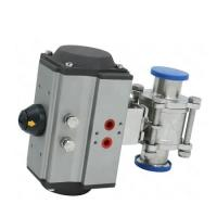 Quality Pneumatic High Purity 3 Pieces Tri Clamped Ball Valve Stainless Steel 304 316 wholesale