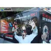 Quality Entertainment Equipment Type Of 7d Movie Theater , Mobile Cinema , Flexible Cabin wholesale
