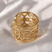 Quality Hollow Design Gold Plated Stainless Steel Wedding Rings For Her OEM / ODM Accept wholesale