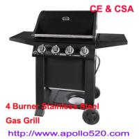 Quality Free Standing Gas Grill 4 Burner with CSA Certification wholesale