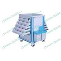 Quality ABS plastic and Steel hospital dressing trolley with Litter Basket and Drawers wholesale