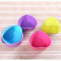 Cheap Colorful Muffin Silicone Muffin Cups Tray Anti Bacteria 6.8*5*3cm for sale