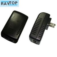 Quality 24w Wall Mount POE Power Adapter Power Supply Support 802.3af/At 10 / 100Mbps wholesale