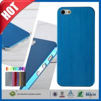 Quality Blue Ultra Thin Brush Shockproof Non Slip Cell Phone Carrying Case for Iphone 5 5s wholesale