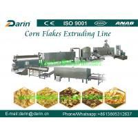 Quality Stainless steel Corn Flakes Processing Line Twin Screw Extruder Machine wholesale