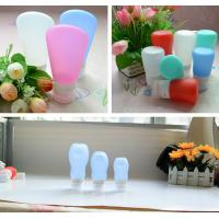 Buy cheap leak proof squeezable, BPA free, Food Grade Protable Silicone Travel Bottle from Hebei Shengxiang product