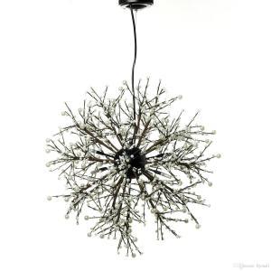 China Modern Dandelion Crystal Pendant Lighting , Firework LED Vintage Modern Single Pendant Lights on sale