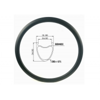 Buy cheap Tubeless All Road 31MM Width 34MM Height Gravel Carbon Bicycle Road Bike Rim from wholesalers
