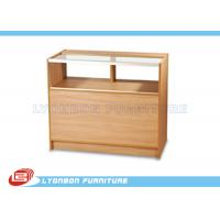 Quality ODM MDF One - Third Vision Cash Register Counter Ample Storage With Adjustable Shelf wholesale