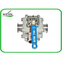 Quality Sanitary Full Bore Ball Valve Clamp / Thread / Weld / Flange 3 Way , Non Retention wholesale