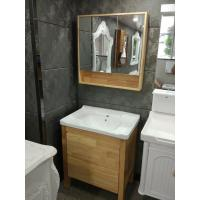 Quality Burlywood Color 32 Inch Single Sink Bathroom Vanity , Square Bathroom Cabinet wholesale