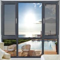 Quality Grey Anodized Aluminum Casement Windows 1.2mm - 2.0mm Profile Thickness wholesale