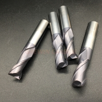 China CNC Cutting Tools 2/4 F Coated Inch Size Solid Carbide Square End Mill on sale