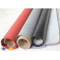 Quality Red Silicone Rubber Coated High Silica Fabric for Welding Protection 1.4mm wholesale