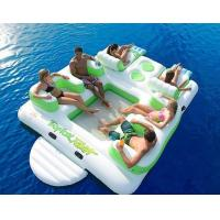 Buy cheap Durable Inflatable Water Sport Inflatable Island Floating Lounge With 6 Seats from wholesalers