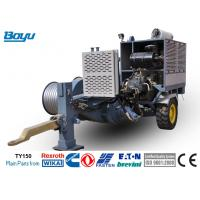 China 150kN Transmission Line Stringing Equipment With 600mm Bull Wheel German Rexroth Pump Reducer Motor on sale