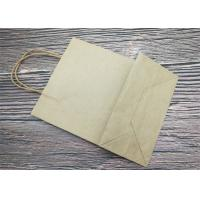 Quality Foldable Screen Printing Paper Gift Bags / Small Paper Bags With Handles wholesale