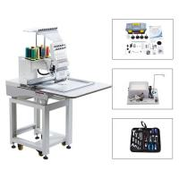 Quality Touch Screen Computerized Single Head Cap Embroidery Machine Wooden Packing wholesale